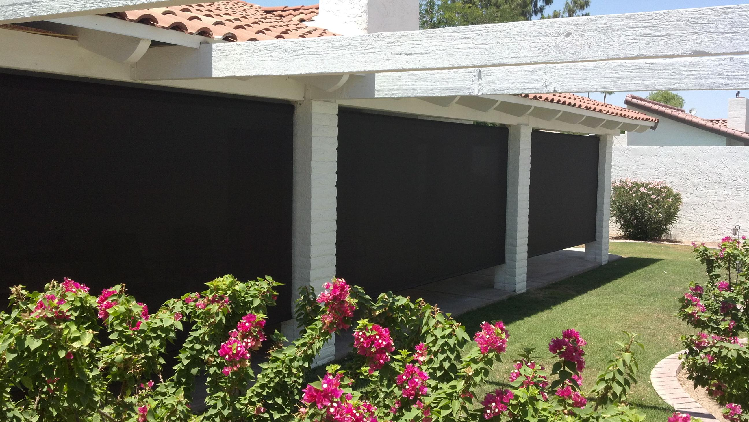 Roll Down Patio Shades Photo Gallery  AAA Sun Control