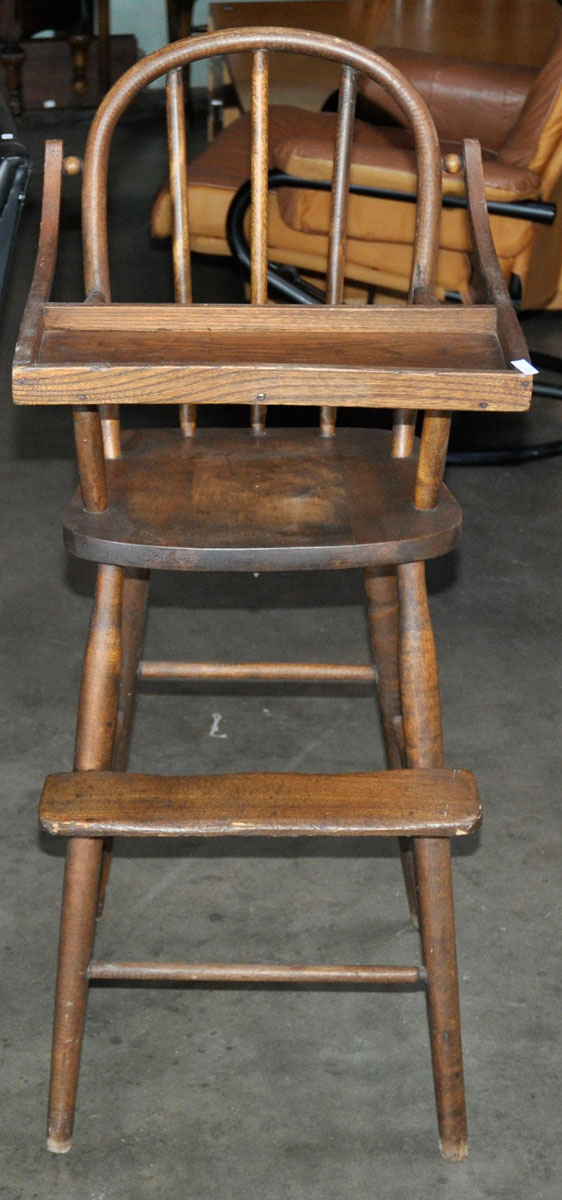 18 Antique Childs High Chair