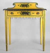 Sheraton Dressing Table, Paint Decorated, Feature1196