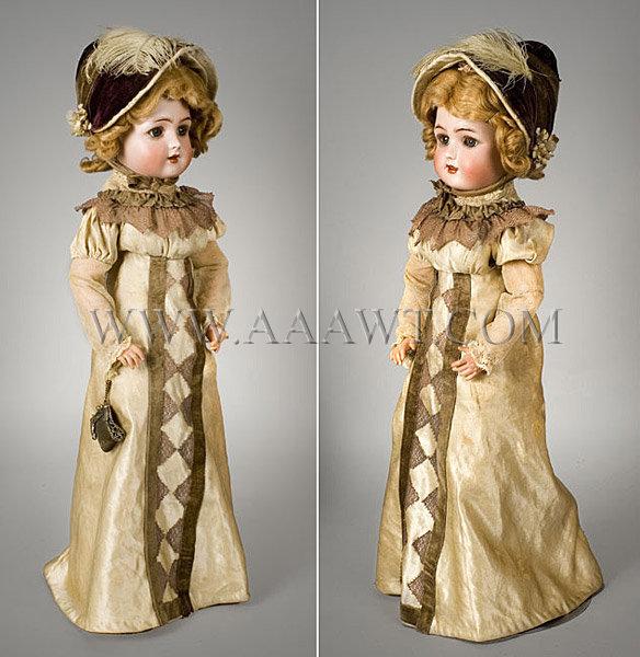 Antique Dolls Antique Bisque and Cloth Dolls American