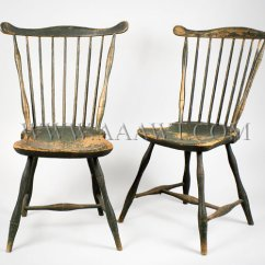 Antique Windsor Chair Identification Green Resin Patio Chairs Furniture Early Pilgrim American Fan Back Side Probably Boston Area Circa 1790 1810 Old Paint Sold