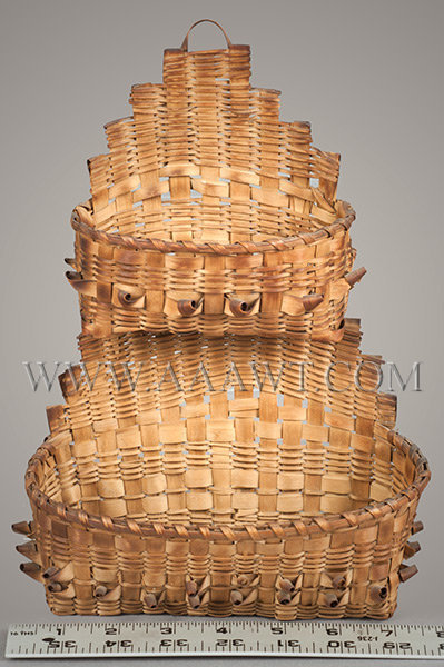 Antique Baskets Painted Baskets Wall Basket Covered