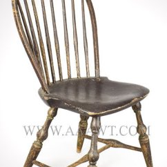 Antique Windsor Chair Ikea Bar Covers Furniture Chairs Early Pilgrim American Side Tracy Bow Back In Old Surface Branded E Ebenezer 1744 To 1803 Lisbon Connecticut Circa 1790 1800 Sold