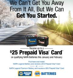 now is a good time to visit advanced auto clinic in delavan for a battery check and receive up to 25 back through a prepaid  [ 1200 x 1350 Pixel ]