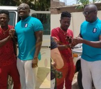 Shatta Wale receives a Mercedes Benz G-Wagon as birthday present from EIB Records