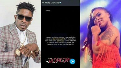 """Photo of """"Insecure Local Champion But…"""" – Shatta Michy Fires Shatta Wale After He Kissed A Lady On Her Birthday To Mock Her"""