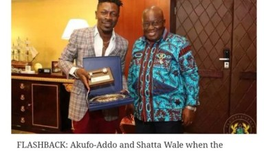 Photo of Akufo Addo shuns Shatta Wale after BJ incident, unfollows him on twitter
