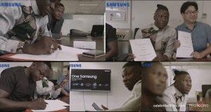 Stonebwoy signed as brand ambassador for Samsung Ghana Limited