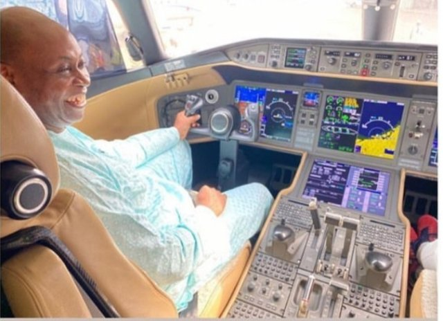 Check out how much Davido's father's latest private jet costs