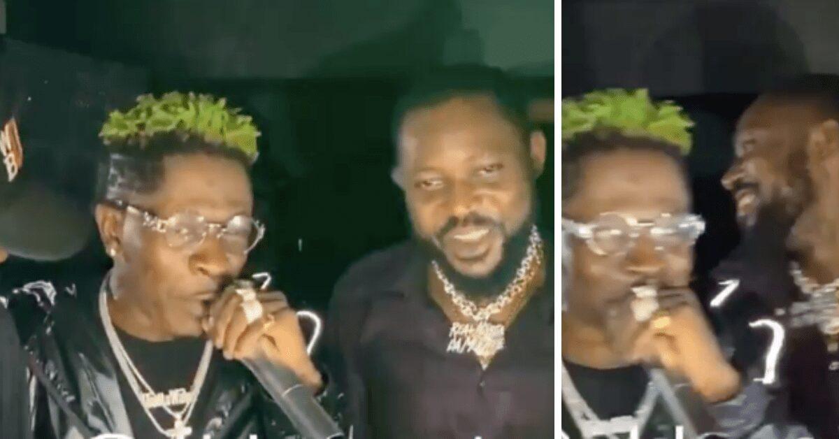 Video: Shatta Wale And Ponobiom Reunite After 'GbeeNabu'