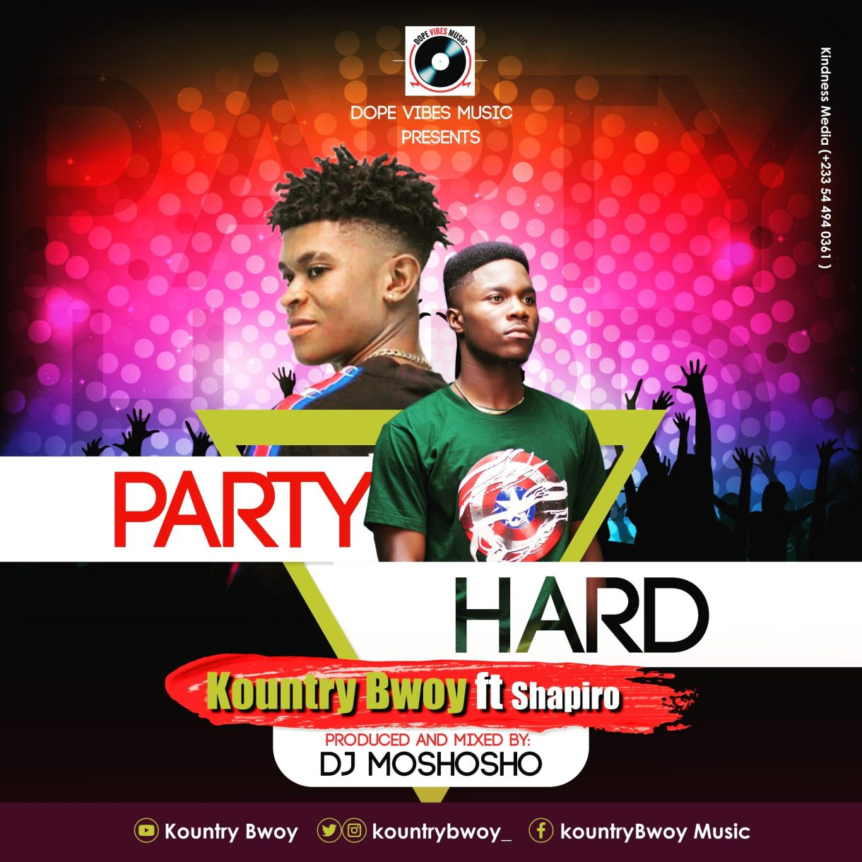 Kountry Bwoy – Party Hard Ft Shapiro (Prod By DJ Moshoho)