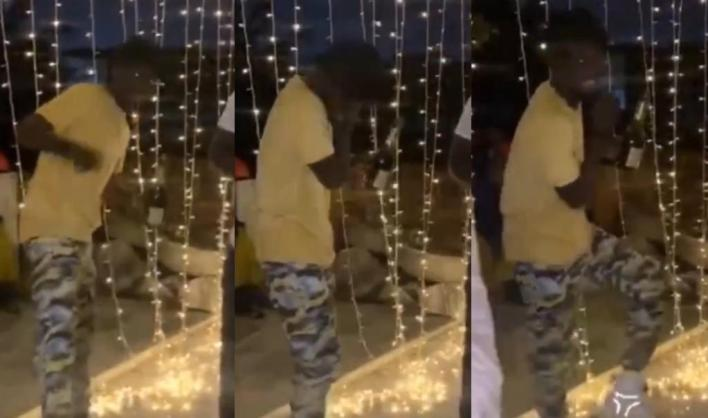 Kuami Eugene Dances To Stonebwoy's Putuu At The Birthday Party Of 3Music Awards CEO