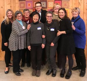 Elisha Goldstein with teachers from Ann Arbor Center for Mindfulness