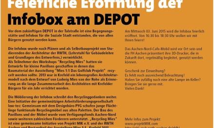 Eröffnung der Infobox am DEPOT