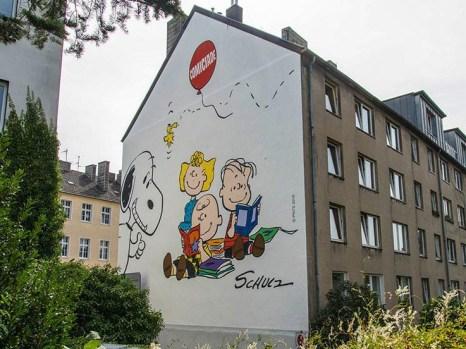 Peanuts Wandgemälde in Aachen