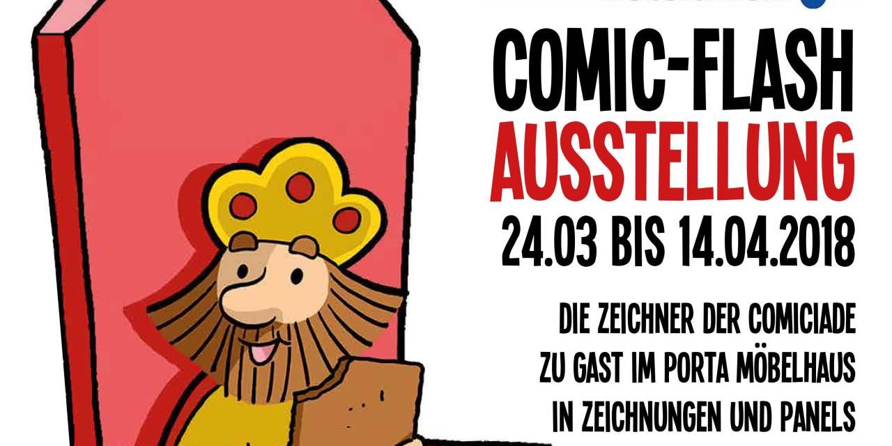 Comic Flash Ausstellung Bei Porta Aachen Nord