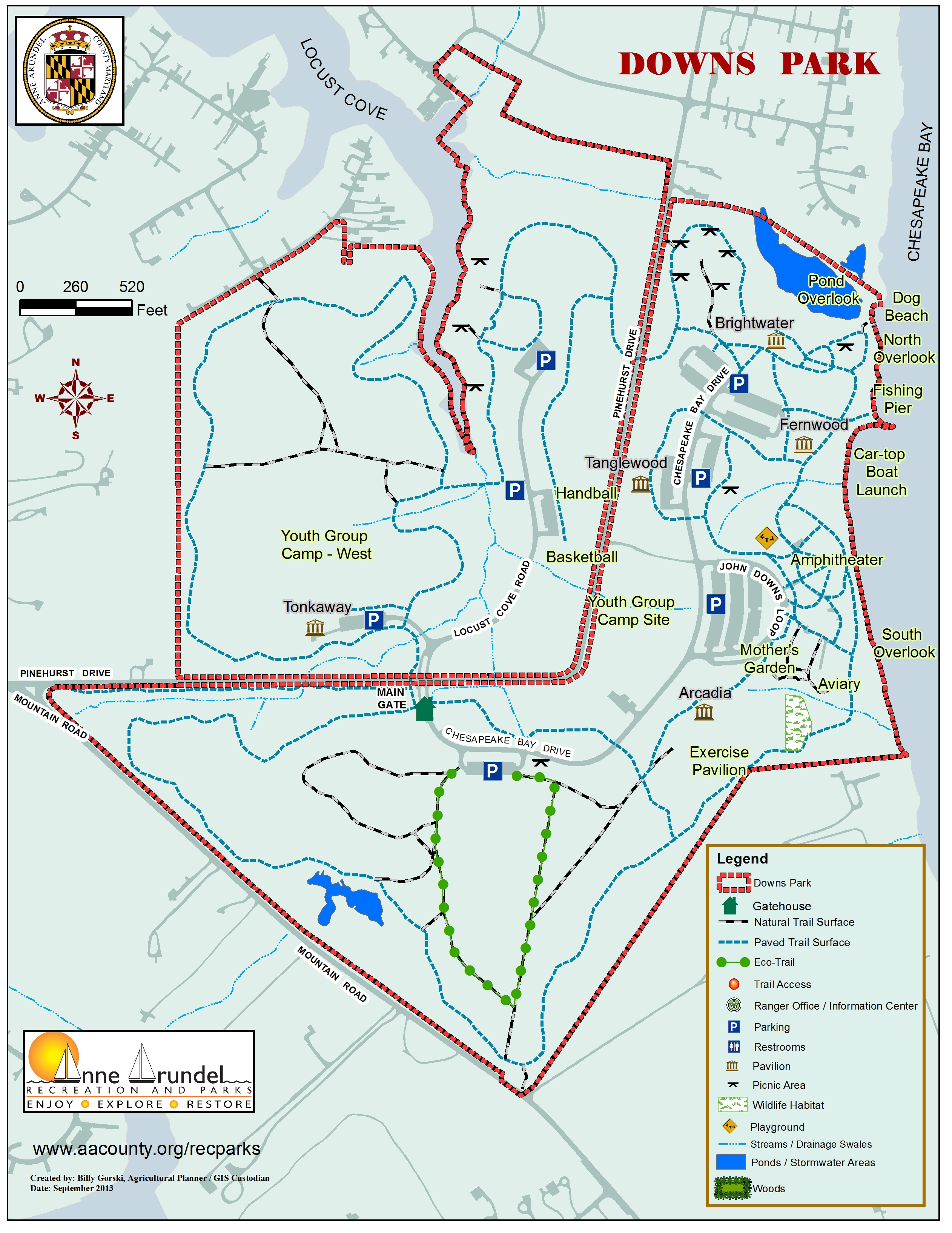 Downs Park Map