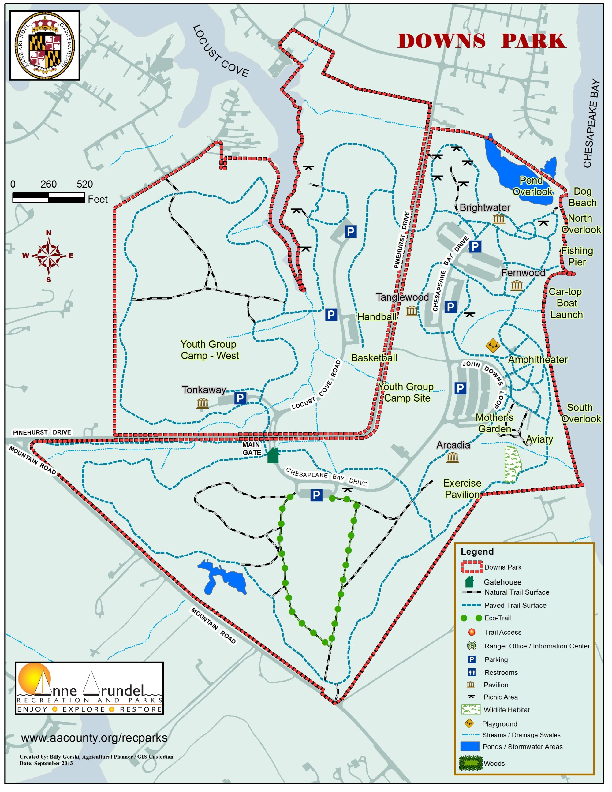 hight resolution of downs park map
