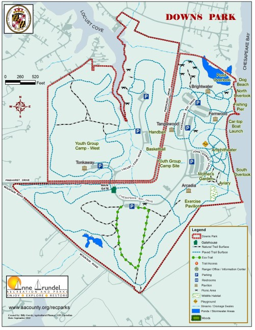 small resolution of downs park map