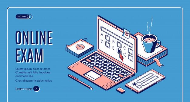 online-exam-isometric-web-banner_33099-2305