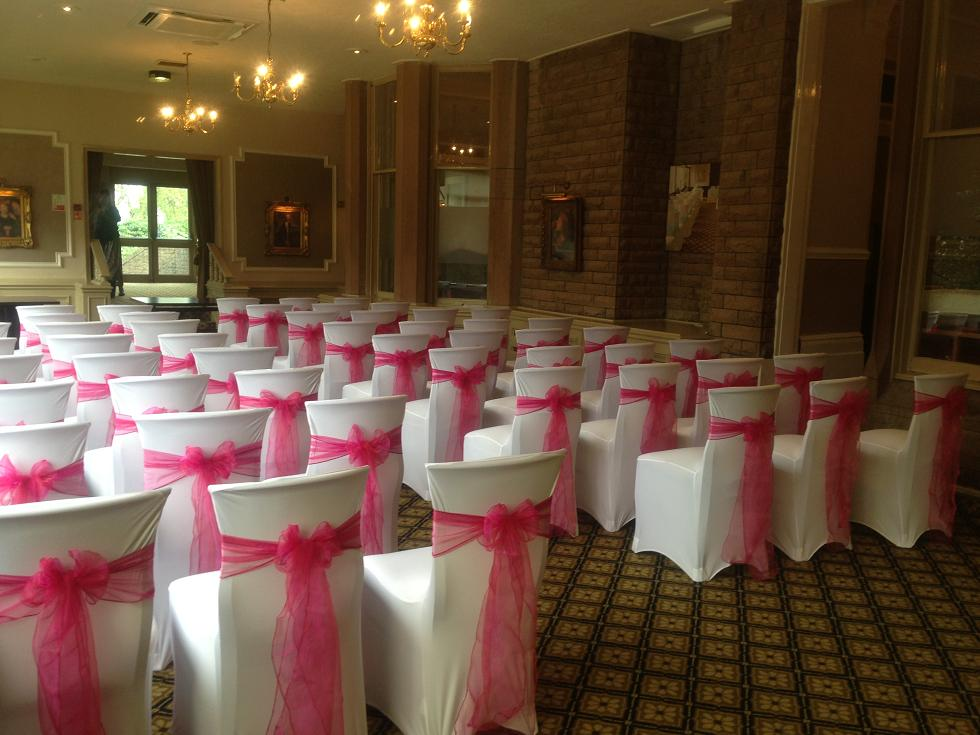 chair cover hire manchester uk swivel with ottoman room draping liverpool wall drapes company at the suites hotel venue dressing