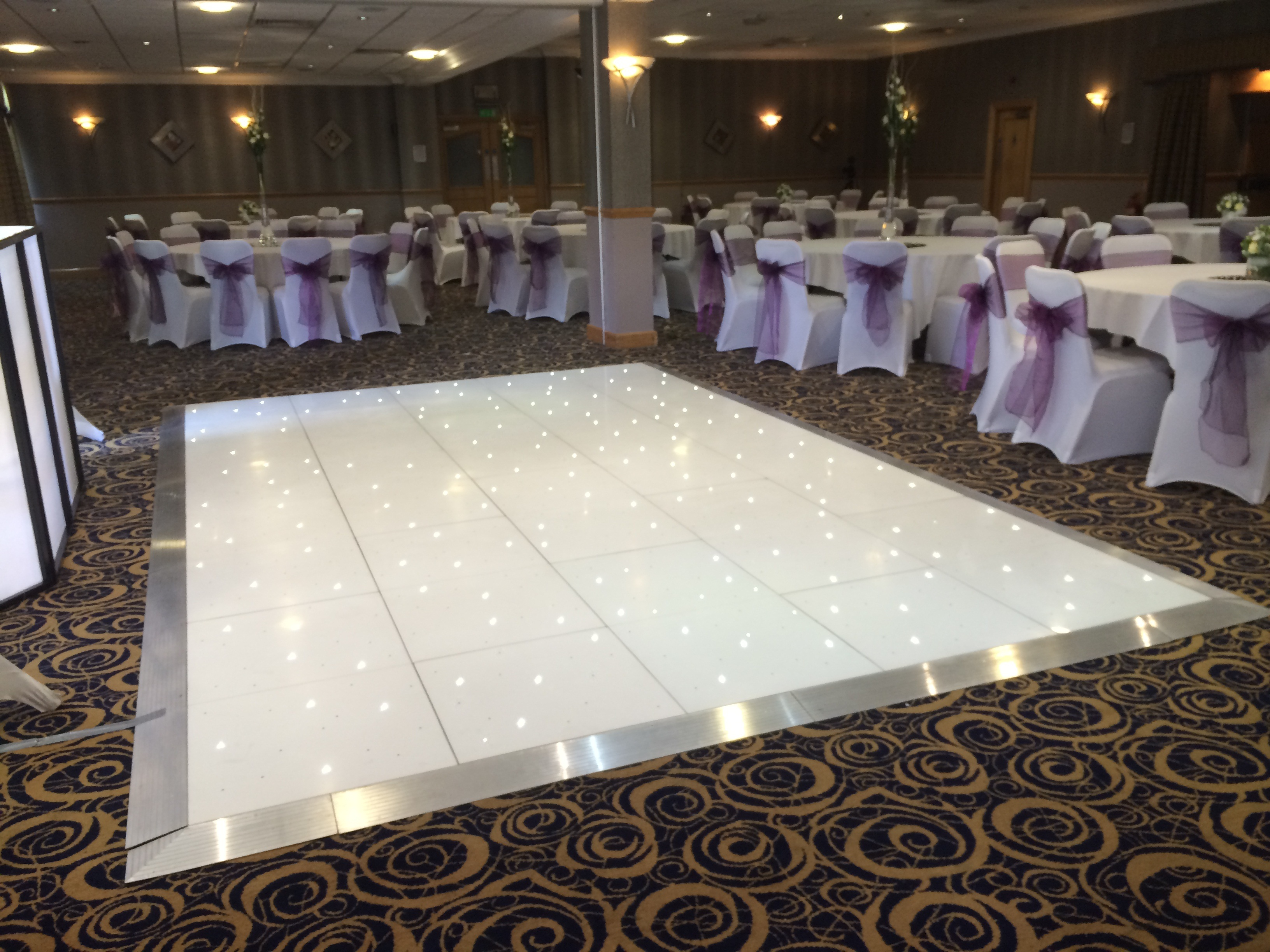 chair cover hire blackpool black velvet dining room chairs venue dressing liverpool dance floor light up love