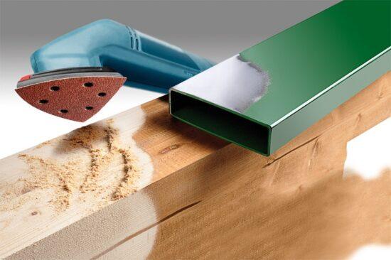 Velcro Trekantslibepapir Korn 40 værktøj