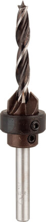 Forsænker 5 mm - med bor og dybdestop værktøj