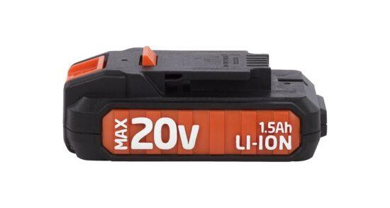 Batteri 1,5 Ah 20 Volt til DUAL POWER værktøj