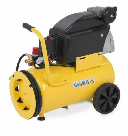Kompressor oliesmurt 2,5 hk 24 ltr. tank værktøj