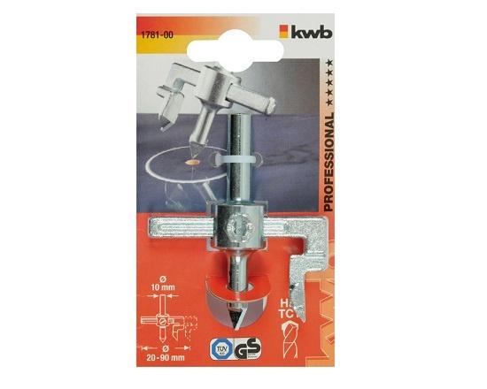 Hulskærer til fliser justerbar 20-90 mm værktøj