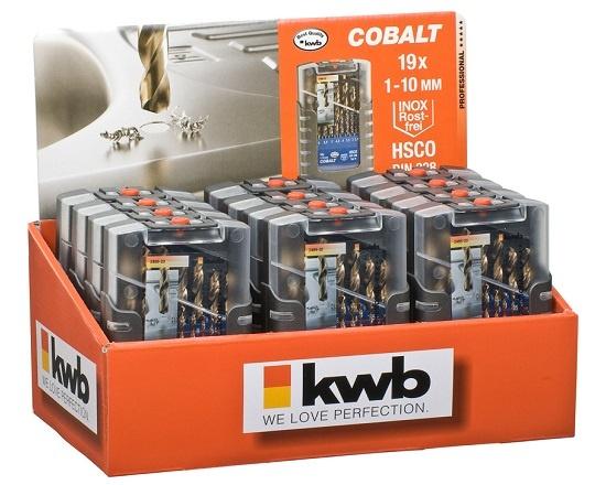 Borsæt til rustfri stål 1,0-10 mm Cobolt værktøj