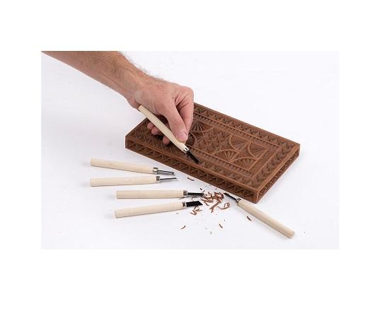 Billedskærejern 12 dele med træ håndtag værktøj