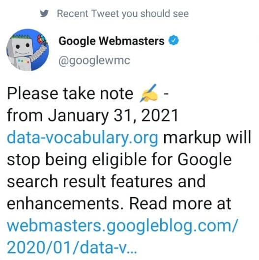 google announced data-vocabulary.org update