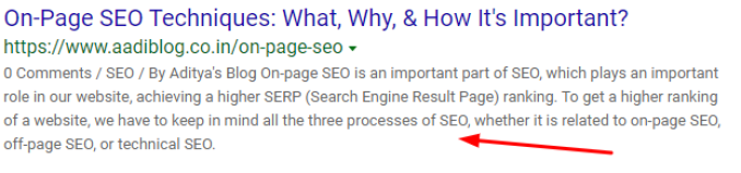 meta description should be below 160 characters, it is also a part of On-Page SEO