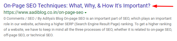 page title should be below 60 characters, that is a on-page seo techniques