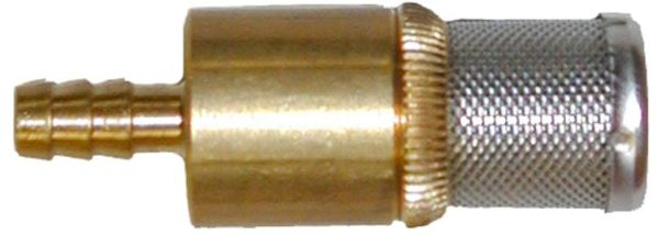 Brass soap screen w/check valve