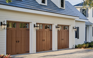 Image of Clopay Canyon Ridge Garage doors fitted to a house