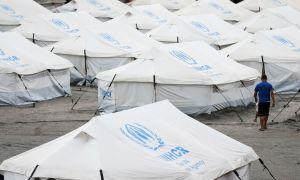 Refugiados venezuelanos abrigados provisoriamente em Boa Vista. Foto: Marcelo Camargo/Agência Brasil