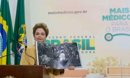 Presidenta Dilma Rousseff durante cerimônia de anúncio da prorrogação da permanência dos médicos brasileiros formados no exterior e estrangeiros no Programa Mais Médicos. Foto: Roberto Stuckert Filho/PR