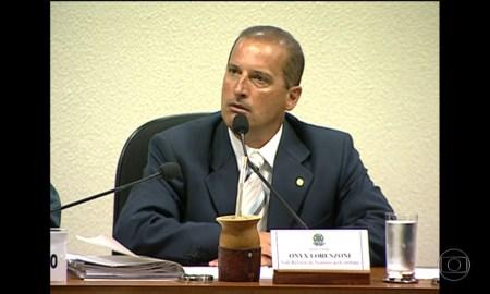 Onxy Lorenzoni na CPI dos Correios, em 2006: Coaf estava lá. Foto: Reprodução/TV Globo