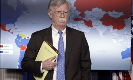 John Bolton na Casa Branca: Venezuela será teste derradeiro. do Foro. Foto: Evan Vucci/AP