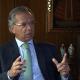O ministro, à TV estatal: reforma afetará os mais ricos. Foto: Reprodução/TV NBR