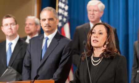 A hoje senadora Kamala Harris, em foto de 2013: reforma na Suprema Corte para frear poder do governo Trump. Foto: Department of Justice