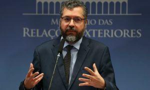 O chanceler Ernesto Araújo: 'Nova Era' abandona ambições antigas. Foto: José Cruz/Agência Brasil