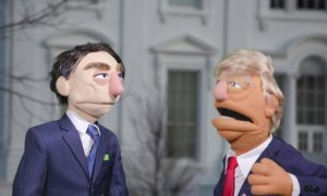 """A esquete do 'Puppet Regime': """"deixaram você twittar isso?"""". Foto: Reprodução/GZERO Media"""
