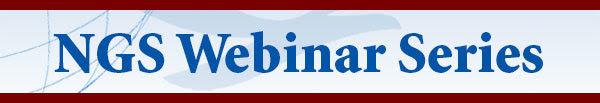 National Geodetic Survey Webinar Series