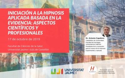 Iniciación a la hipnosis aplicada basada en la eficiencia en la Universitat Jaume I (UJI) de Castellón