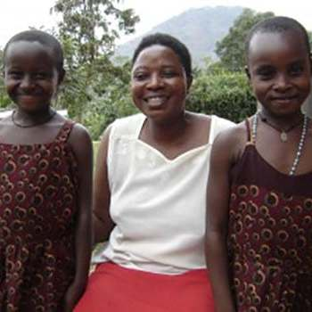 teacher with daughters