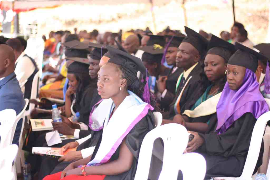 AAH graduates in robes